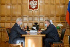 Александр Гусев и Виктор Савватеев обсудили возможность сотрудничества НПО «Полюс» с гражданскими отраслями и структурами